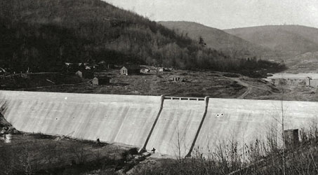 The Austin Dam as it was before September 30, 1911