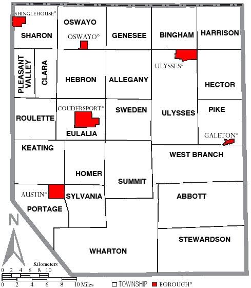 Pike Natural Gas >> Potter County Pennsylvania ... Townships/Boroughs